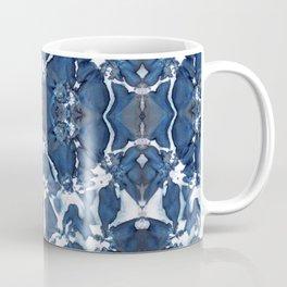 Shibori Blue Crepe De Chine Coffee Mug