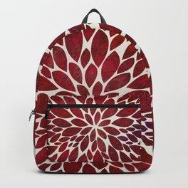 Petal Burst - Maroon Backpack