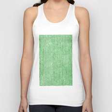 Stockinette Green Unisex Tank Top