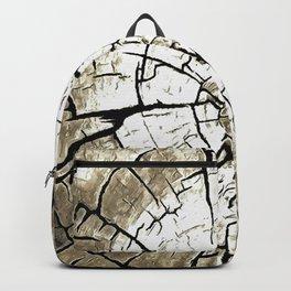 Tree Stump In Pale Grey Monotone Backpack