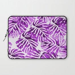 Tropical Leaves - Purple Laptop Sleeve