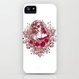 Sexy Woman zombie WITH Flower - Razzmatazz iPhone Case