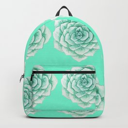 Seamless Succulent pattern Backpack