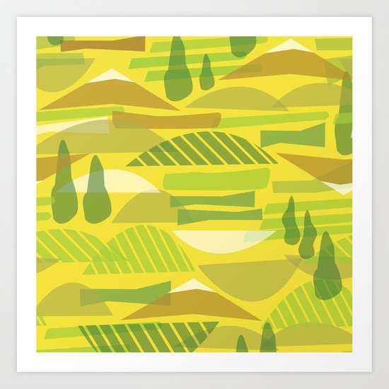 Italian Countryside Art Print