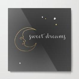 Goodnight Moon, Sweet Dreams - Dark Metal Print