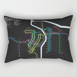 Rail Transit of Portland, Oregon Rectangular Pillow