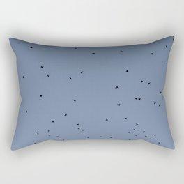 Dark Sky Bird Abstract Rectangular Pillow