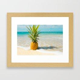 Pineapple Beach Framed Art Print