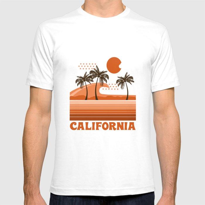 California retro 70s 1970 39 s sun surfing beach throwback for Sun t shirts sunland california