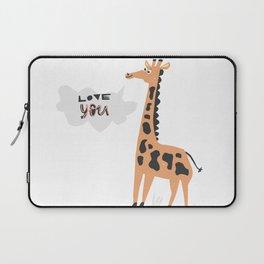 Love Giraffe Laptop Sleeve