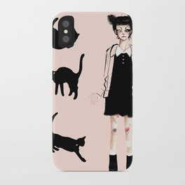 Augustine and cats iPhone Case