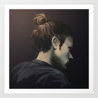 sam smith Art Prints featuring Sam by Armellin