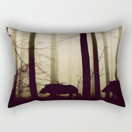 Night in the forest Rectangular Pillow