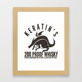 Keratin's Dragon Distilled Whisky Framed Art Print