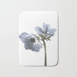 Single flower print - Blue Poppy Bath Mat