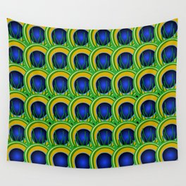 Peacock Feathers Design Wall Tapestry
