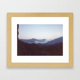 Fog in the Mountains Framed Art Print