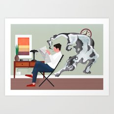 Dark Smoke Art Print