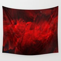 rothko Wall Tapestries featuring Red by Corbin Henry