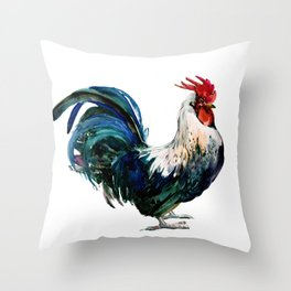 Rooster Decor, Beautiful Rooster French country style design artwork, kitchen Throw Pillow