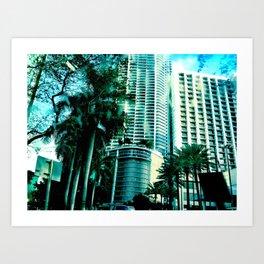 blue city 2 Art Print