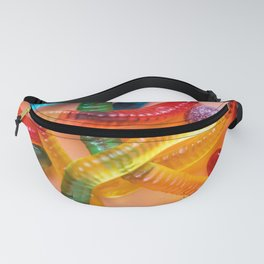 Rainbow Gummy Worms Fanny Pack