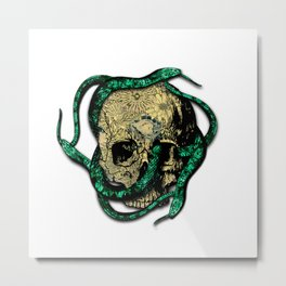 Snakes on the head Metal Print