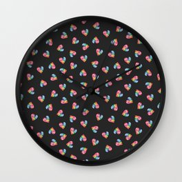 #LoveWins Watercolor Painting (Black) Wall Clock