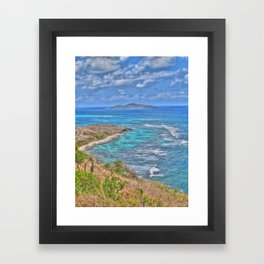Buck Island from the East End - St. Croix, U.S. Virgin Islands, 2011 Framed Art Print