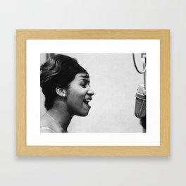 Aretha Franklin - Black Culture - Black History Framed Art Print