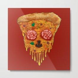 Pizza de Los Muertos Metal Print