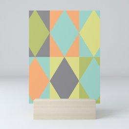 Diamond shapes in modern colors Mini Art Print