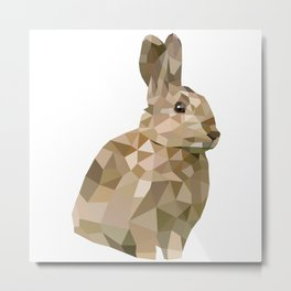 Rabbit Bunny  Geometric animal art Metal Print