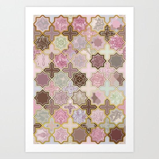 Neapolitan Geometric Tile Pattern Art Print