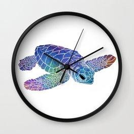 Colorful Sea Turtle I Wall Clock