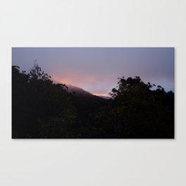Descending Mt. buller, Australia Canvas Print