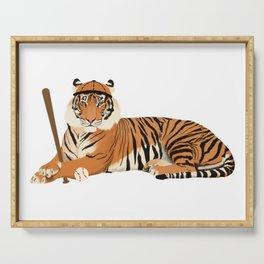Baseball Tiger Serving Tray