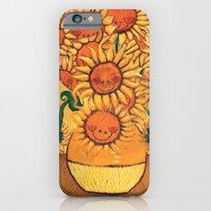 Flowers - Reinterpretation of Vase with 12 sunflowers by Vincent Van Gogh - Kids Art for sale iPhone 6s Slim Case
