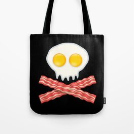 Skull With Crossed Bacon  Skull Bacon Eggs Tote Bag