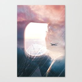In the plane Canvas Print
