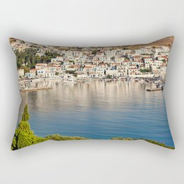 The picturesque village of Batsi in Andros, Greece Rectangular Pillow