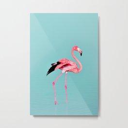 Flamingo Bird Print Metal Print