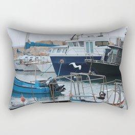 Docked Boats-Color Rectangular Pillow