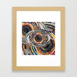 Rainbow Eyes Collage Framed Art Print