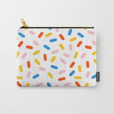 Livin' It - abstract pattern minimal modern primary colors pantone gender neutral retro throwback Carry-All Pouch