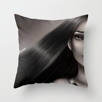 pocahontas Throw Pillows featuring Pocahontas by NikkiBeth