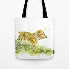 Dog Strolling Tote Bag