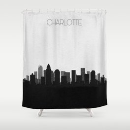 City Skylines: Charlotte Shower Curtain