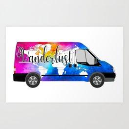 Vanderlust - the traveling Vaner Art Print