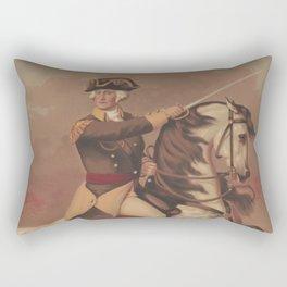 Vintage General Washington at Trenton Illustration (1875) Rectangular Pillow